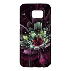 Flower Burst Background  Samsung Galaxy S7 Edge Hardshell Case by amphoto