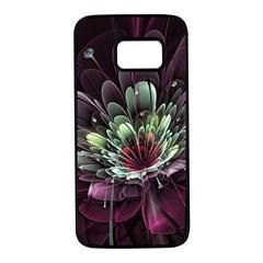 Flower Burst Background  Samsung Galaxy S7 Black Seamless Case