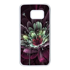 Flower Burst Background  Samsung Galaxy S7 White Seamless Case by amphoto