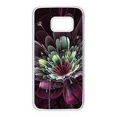Flower Burst Background  Samsung Galaxy S7 White Seamless Case