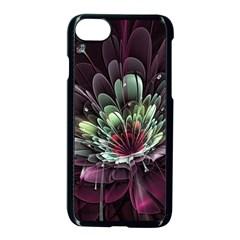 Flower Burst Background  Apple iPhone 7 Seamless Case (Black)