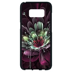 Flower Burst Background  Samsung Galaxy S8 Black Seamless Case by amphoto