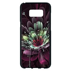 Flower Burst Background  Samsung Galaxy S8 Plus Black Seamless Case by amphoto