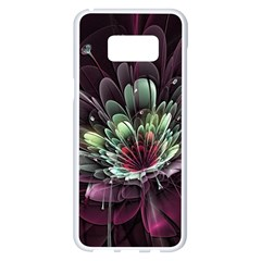 Flower Burst Background  Samsung Galaxy S8 Plus White Seamless Case by amphoto