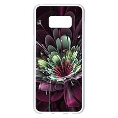 Flower Burst Background  Samsung Galaxy S8 Plus White Seamless Case