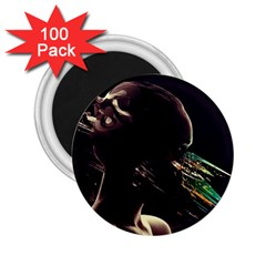 Face Shadow Profile 2 25  Magnets (100 Pack)  by amphoto