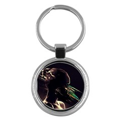 Face Shadow Profile Key Chains (round)  by amphoto