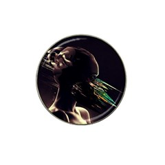 Face Shadow Profile Hat Clip Ball Marker by amphoto
