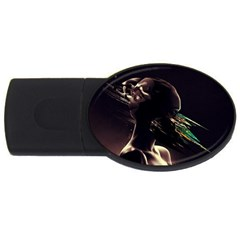 Face Shadow Profile Usb Flash Drive Oval (4 Gb) by amphoto
