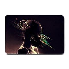 Face Shadow Profile Small Doormat  by amphoto