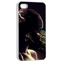 Face Shadow Profile Apple Iphone 4/4s Seamless Case (white) by amphoto