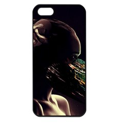 Face Shadow Profile Apple Iphone 5 Seamless Case (black) by amphoto