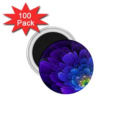 Purple Flower Fractal  1 75  Magnets (100 Pack)  by amphoto