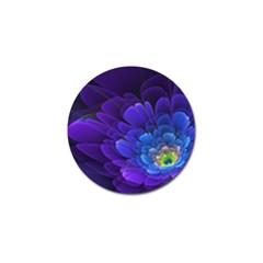 Purple Flower Fractal  Golf Ball Marker by amphoto