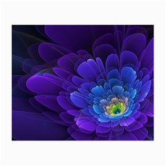 Purple Flower Fractal  Small Glasses Cloth (2 Side) by amphoto