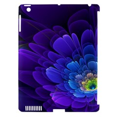 Purple Flower Fractal  Apple Ipad 3/4 Hardshell Case (compatible With Smart Cover) by amphoto