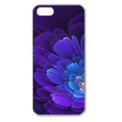 Purple Flower Fractal  Apple Seamless Iphone 5 Case (clear) by amphoto