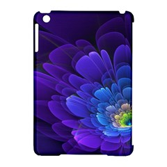 Purple Flower Fractal  Apple Ipad Mini Hardshell Case (compatible With Smart Cover) by amphoto