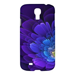 Purple Flower Fractal  Samsung Galaxy S4 I9500/i9505 Hardshell Case by amphoto