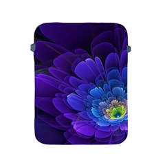 Purple Flower Fractal  Apple Ipad 2/3/4 Protective Soft Cases by amphoto