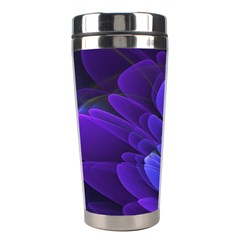 Purple Flower Fractal  Stainless Steel Travel Tumblers by amphoto