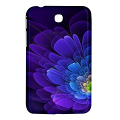 Purple Flower Fractal  Samsung Galaxy Tab 3 (7 ) P3200 Hardshell Case  by amphoto