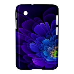Purple Flower Fractal  Samsung Galaxy Tab 2 (7 ) P3100 Hardshell Case  by amphoto