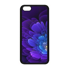 Purple Flower Fractal  Apple Iphone 5c Seamless Case (black) by amphoto