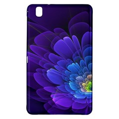 Purple Flower Fractal  Samsung Galaxy Tab Pro 8 4 Hardshell Case by amphoto