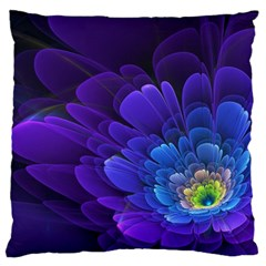Purple Flower Fractal  Standard Flano Cushion Case (two Sides) by amphoto
