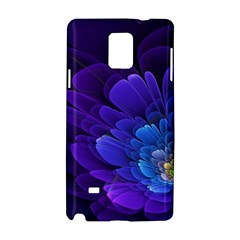Purple Flower Fractal  Samsung Galaxy Note 4 Hardshell Case by amphoto