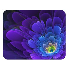 Purple Flower Fractal  Double Sided Flano Blanket (large)  by amphoto