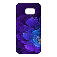 Purple Flower Fractal  Samsung Galaxy S7 Edge Hardshell Case by amphoto