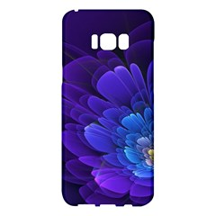 Purple Flower Fractal  Samsung Galaxy S8 Plus Hardshell Case  by amphoto