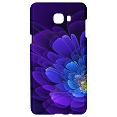 Purple Flower Fractal  Samsung C9 Pro Hardshell Case  by amphoto