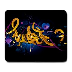 Sign Paint Bright  Large Mousepads by amphoto