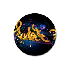 Sign Paint Bright  Magnet 3  (round) by amphoto