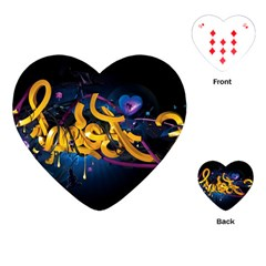 Sign Paint Bright  Playing Cards (heart)  by amphoto