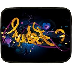 Sign Paint Bright  Fleece Blanket (mini) by amphoto