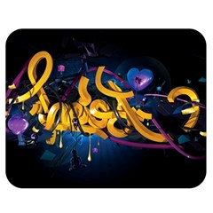 Sign Paint Bright  Double Sided Flano Blanket (medium)  by amphoto
