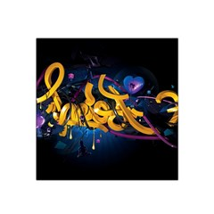 Sign Paint Bright  Satin Bandana Scarf by amphoto
