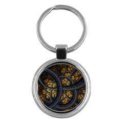Circles Background Spots  Key Chains (round)  by amphoto