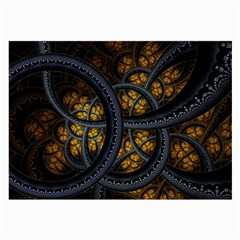 Circles Background Spots  Large Glasses Cloth (2 Side) by amphoto