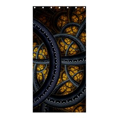 Circles Background Spots  Shower Curtain 36  X 72  (stall)  by amphoto