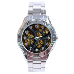 Circles Background Spots  Stainless Steel Analogue Watch by amphoto