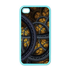 Circles Background Spots  Apple Iphone 4 Case (color) by amphoto