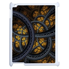 Circles Background Spots  Apple Ipad 2 Case (white) by amphoto