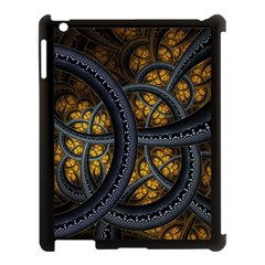 Circles Background Spots  Apple Ipad 3/4 Case (black) by amphoto