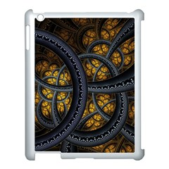Circles Background Spots  Apple Ipad 3/4 Case (white) by amphoto