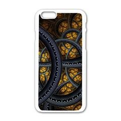Circles Background Spots  Apple Iphone 6/6s White Enamel Case by amphoto